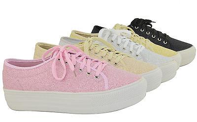 Women Shoes Median High Platform Fashion Sneakers Shinny Glitter Design