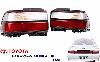 95 Toyota Corolla Sedan (New 91-95 Toyota AE100 AE101 Corolla E100 Sedan Rear Kouki Tail Lamp Lights)