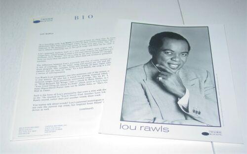 Lou Rawls Original Press Photo w/ paperwork Blue Note Soul Black Power BLM