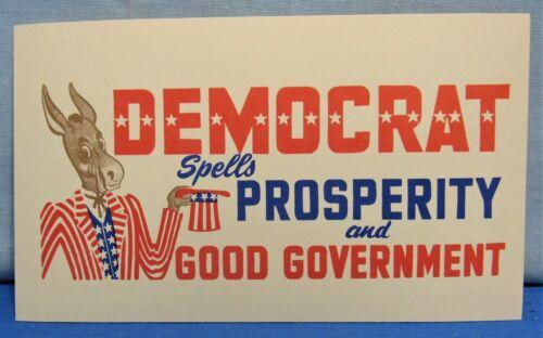 Democrat Donkey Patriotic Stars Stripes ~ 1¢ Post Card