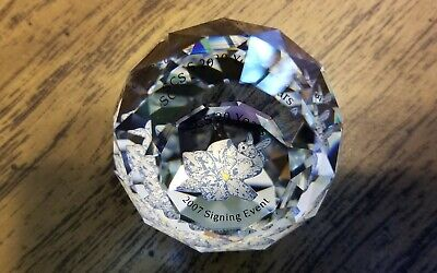 Swarovski Crystal 2007 Bee on Flower Ball Paperweight, Rare, Mint, Box, Logo COA
