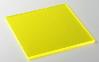 Yellow Fluorescent Acrylic Plexiglass Sheet 18 X 12 X 12 9097
