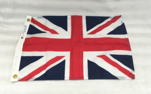 """ENGLAND / GREAT BRITAIN FLAG / APPROX 18"""" X 12"""" / NYLON / RED / WHITE / BLUE"""