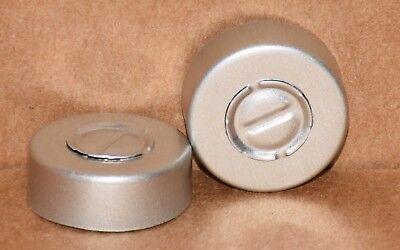 20mm Aluminum Center Tear Serum Vial Seals Naturalsilver - Qty. 100