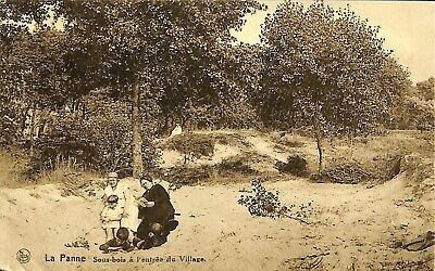 CPA - Belgique -  De Panne - La Panne - Sous les bois à l'entrée du village