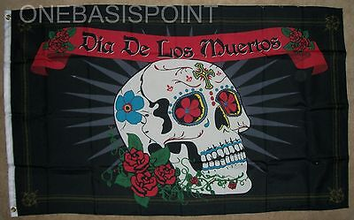 3'x5' Day of the Dead (Spanish) Flag Skull Banner Dia De Los Muertos Holy 3X5](Dia De Los Muertos Flags)