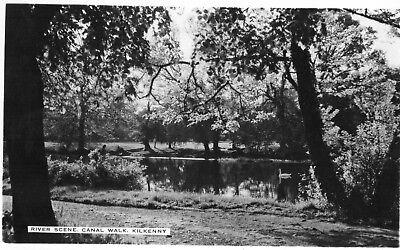 RIVER SCENE CANAL WALK KILKENNY IRELAND RP CARDALL IRISH POSTCARD