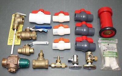 17 Misc Plumbing Lot Quarter Turn Ball Valve Stem Fire Hose Nozzle Pvc