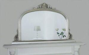 Mantle Mini Silver Ornate Overmantle Vintage Wall Mirror 43