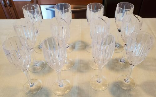 Set of 4 of Vintage Mikasa Uptown Wine Glass Cut Crystal Single Glass Hand Blown