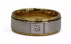 18ct Yellow/White Gold Mens Diamond Ring Joondalup Joondalup Area Preview
