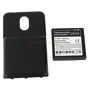 3800mAh Extended Battery +Cover For SAMSUNG GALAXY S 2 II EPIC 4G TOUCH SPH-D710