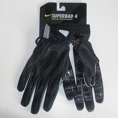 dc3b772db Nike SUPERBAD 4 Padded Receiver Gloves BLACK WHITE GF0627 010 Adult Size  SMALL