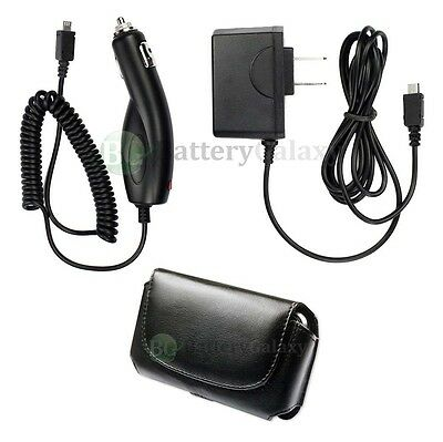 Wall+Car Charger+Case for LG Envoy VX5500 VX5600 Accolade VX8360 VX8370 Clout