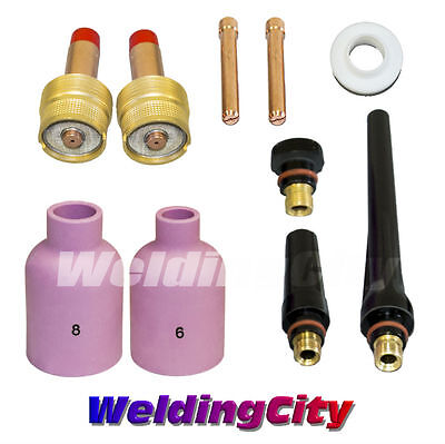 Tig Welding Large Gas Lens Accessory Kit 116 Torch 171826 T17 Us Seller