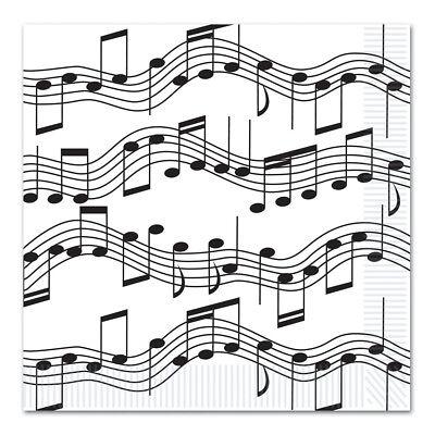 Music Notes Dinner Napkins