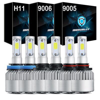 9005+9006+H11 LED Headlight HI/LO Bulbs 6000K Fog Faint Combo 3240W 486000LM Kit