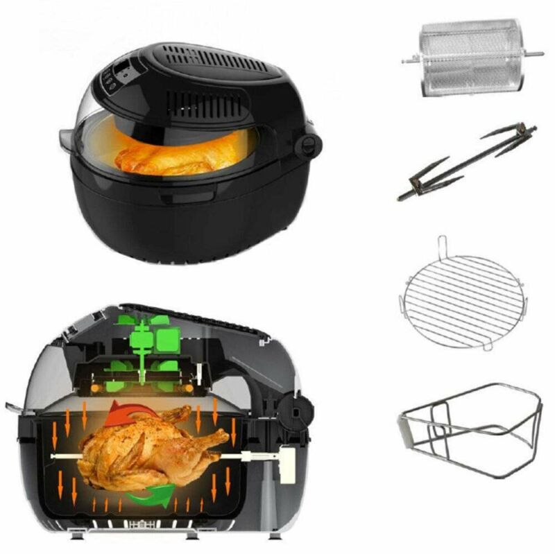 Digital Air Fryer with Control Panel Premium Quality Turbo Air Technology...