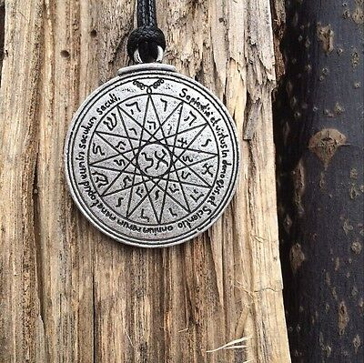 - Amulet pendant Talisman pentacle of Solomon's seal of  Mercury necklace