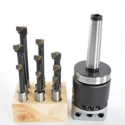 2 Boring Head 9pcs 12 Carbide Boring Bars With Mt2 M10 1-12-18 Mount