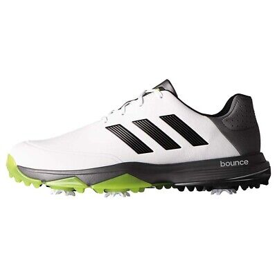 NEW Mens Adidas Adipower Bounce Golf Shoes White / Black / Slime Size 9 W