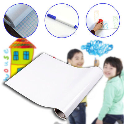 Teach Learn Student Pvc Whiteboard Wall Sticker Foils Dry Erase Decal Removable