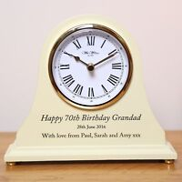 Men's 90th Birthday Gift, Engraved 90th Birthday Wooden Clock, Mens 90th Gift - not applicable - ebay.co.uk