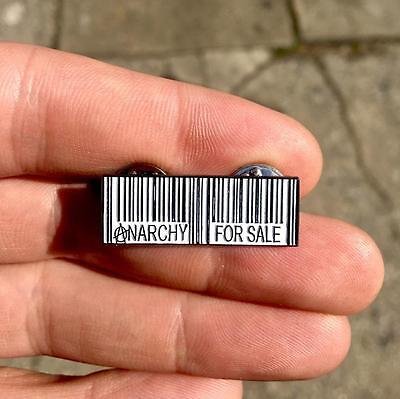 ANARCHY FOR SALE ENAMEL PIN UPC DEAD KENNEDYS PUNK HARDCORE PIN BORT'S EMPORIUM](Pins For Sale)
