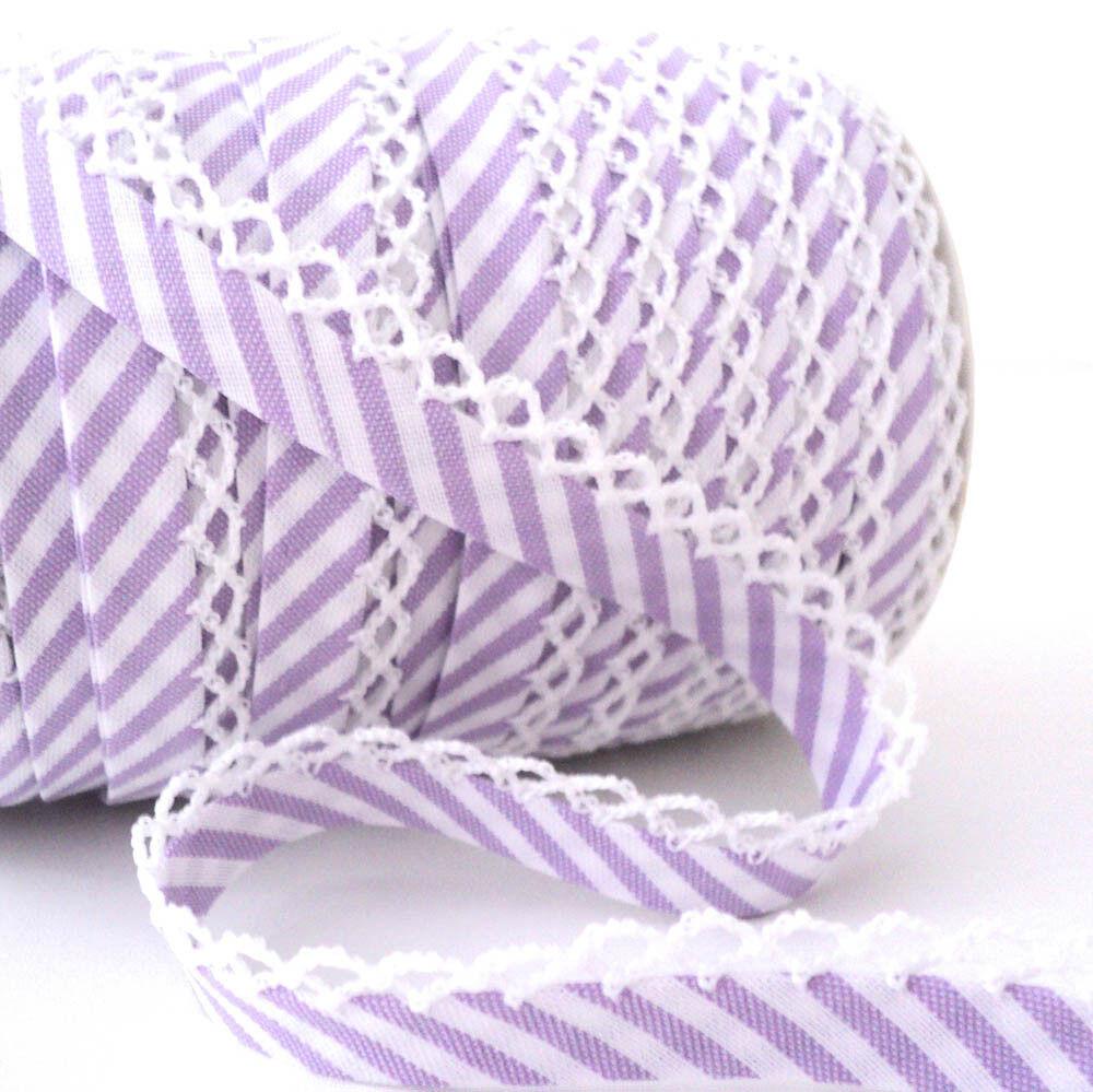 Picot Borde De Encaje Lisos bieses ajuste-Candy Pink-tejido de algodón Trim