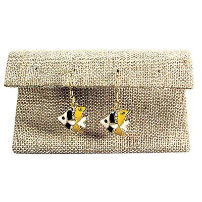 Linen Jewelry Earring Display Holder