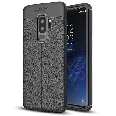 Samsung Galaxy S9 Plus Leder Look Handy Hülle von NALIA, Slim Silikon Case Cover