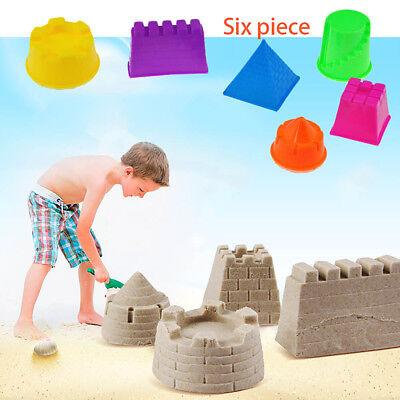 6Pcs kids children Small Motion Sand Castle Building Model Mold Beach Toy