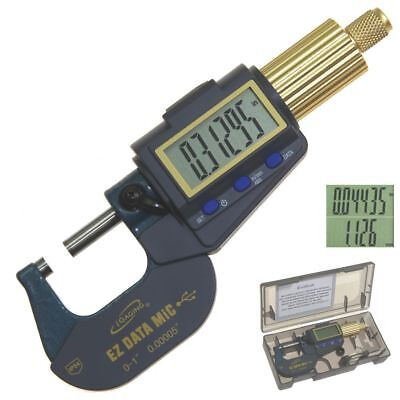 Digital Micrometer Outside 0-10.00005 Electronic X-large Display Data Connect