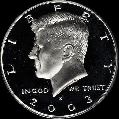 2003 S 90% Silver Kennedy Half Dollar Deep Cameo Gem Proof No Reserve