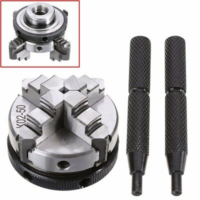 2 Inch Lathe Chuck 4 Jaw 50mm Fingertight Self-centering Metalworking Wood Lathe