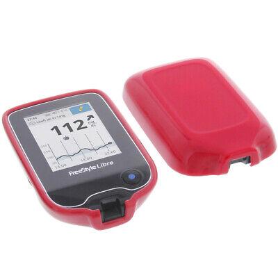 Hülle für Abbott Freestyle Libre 2 Tasche Schutz TPU Gummi Case Rot