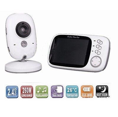 3.2'' BABY Drahtlos Babypflege Babyphone mit Kamera Video Monitor Nachtlicht