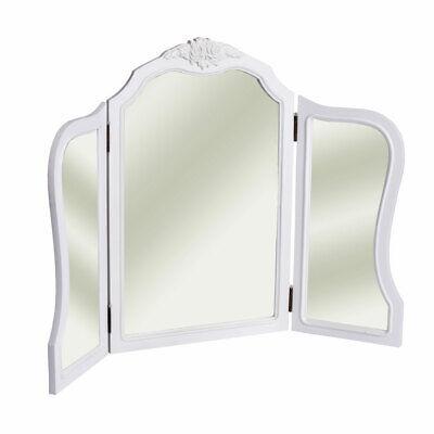 Espejo de Mesa Casa de Campo Tocador Espejo de Maquillaje Plegable Baño