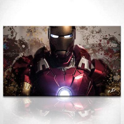 Iron Man Dekorationen (Iron Man Marvel Fantasy Bild Leinwand Abstrakte Kunst Bilder Wandbilder D0793)