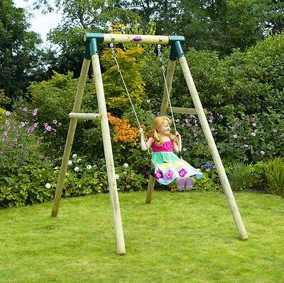 Plum Bush Baby Wooden Pole Swing Set