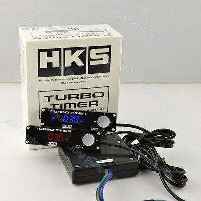HKS Universal Digital Auto Car Type 0 Turbo Timer with White LED Display Logo