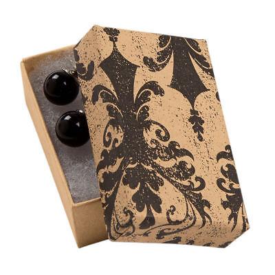 Jewelry Boxes 50 Tan Black Damask 2 12 X 1 12 X 78 Print Cotton Filled