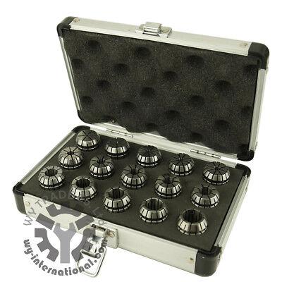 Er25 15pcs Collet Set 2-16mm 0.008mm Runout Alu Box Spindle Spring Collet