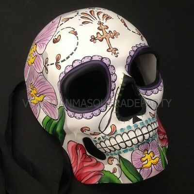 Sugar Skull Mask Day of the Dead costume Floral Full Face Skeleton Party Mask