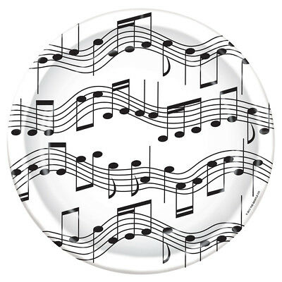 Music Notes Paper Plates - 8 5/8