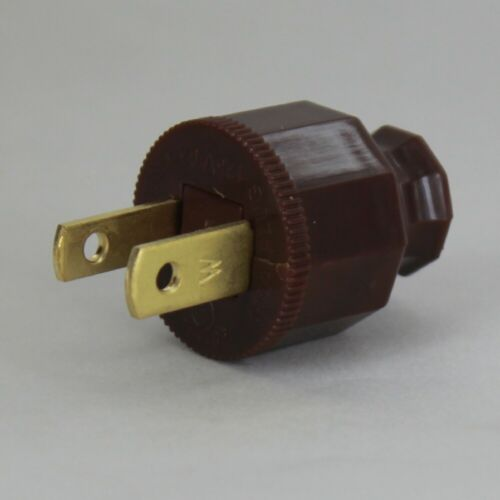 DECORATIVE ~ Antique Style ~ BROWN ~ Quick Connect Lamp Plug