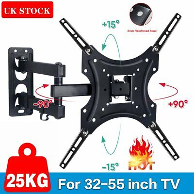 TV Wall Mount Bracket Shelf Tilt & Swivel Plasma LCD LED 32 38 40 42 46 48 50 55