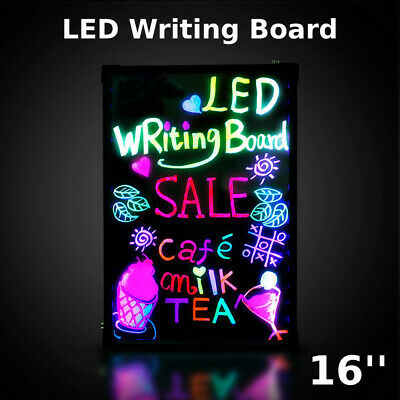 Flashing Illuminated Erasable Neon Led Message Menu Sign Writing Board Wf