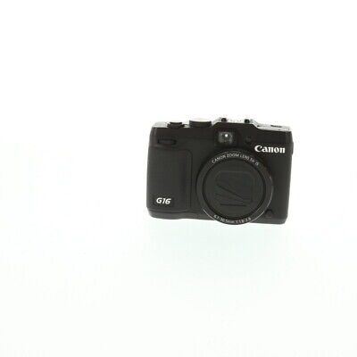 Canon Powershot G16 Digital Camera {12.1 M/P} With Battery & Charger *BG*