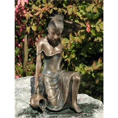 Gargoyle Girl Letizia from Bronze Woman Women People Garden Ornament RO-88491